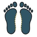outline of flat feet after wet test